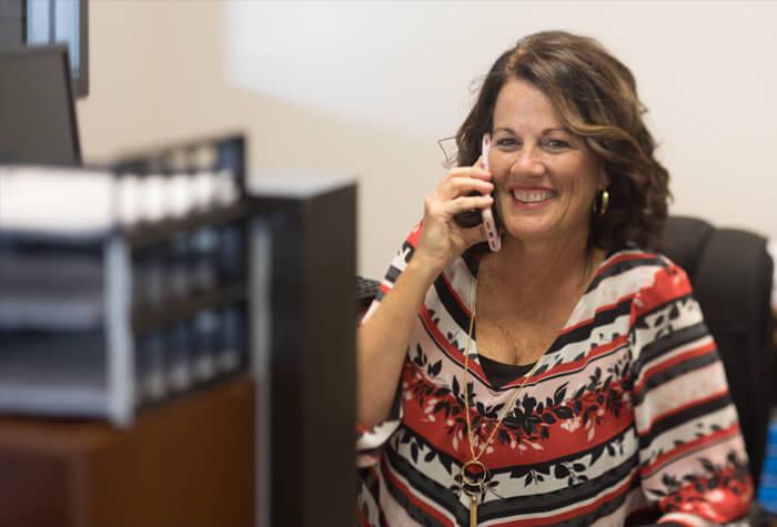 Carolyn Carpenter on the phone